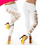 High-Quality Women Leggings Soft  Active Wear Casual Cropped Pants Side Cut UK