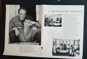 1958 Mr et Mme Henry Fonda A Brownstone Maison Refait Ad Collage incoyKIf-09165946-320856295