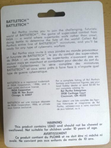 Ral Partha Battletech 20-793 Hollander B2K-F3 Mint, Sealed
