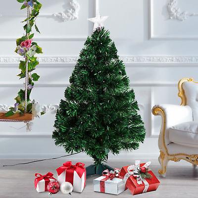 HOMCOM Weihnachtsbaum Tannenbaum 90 LEDs Stern Grün