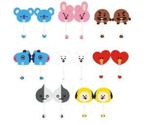 BTS BT21 Fan - Key chain - Notes - Pin set Cooky Chimmy RJ Shooky Mang Koya Tata