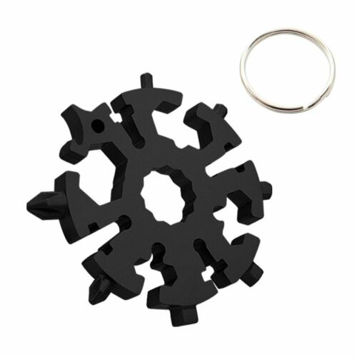 18 In 1 DIY Stainless Multi-Tool Portable Snowflake Shape Key Chain Screwdriver