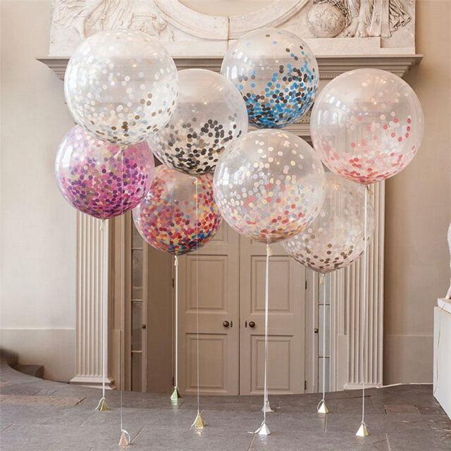 20PCS Random Confetti Balloon Birthday Wedding Party Decor Helium Balloons