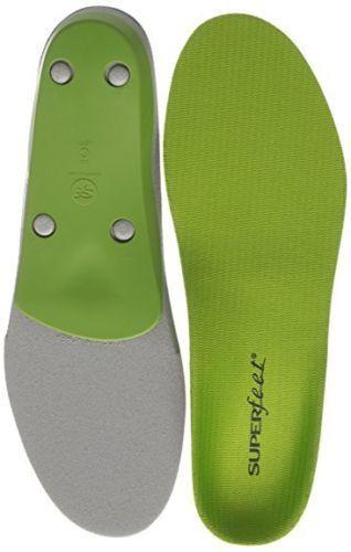 SUPERFEET Premium Green Insoles Inserts Orthotics Brand New
