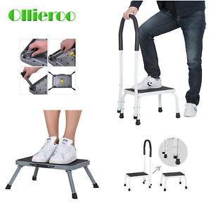 Folding Handy Support Step Stool W Handle 330 Lbs Load