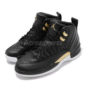 32591b8ade5 Nike Wmns Air Jordan 12 Retro XII AJ12 Black Reptile Gold Women ...