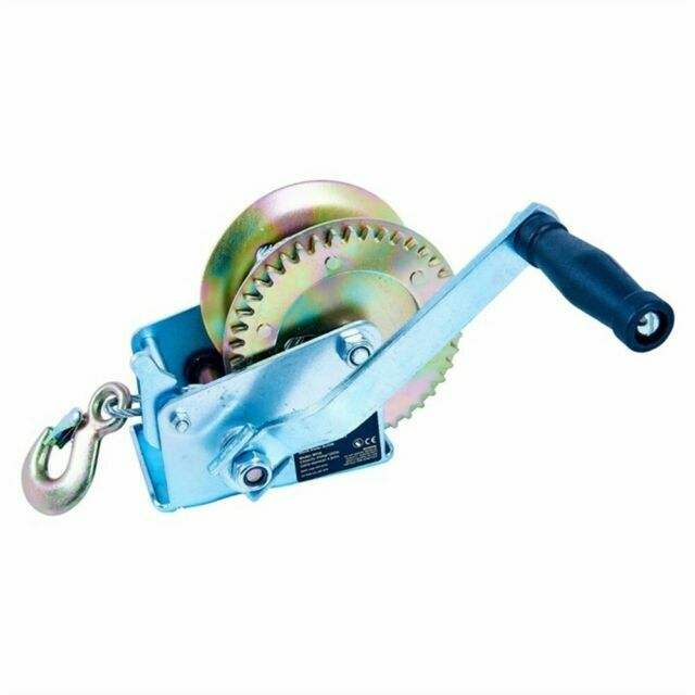 1200 Ibs Hand Winch Heavy Duty Car Trailer Boat Manual Winch for Pickup Trucks with 10m Cable