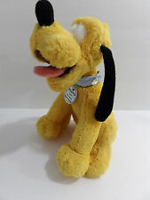 "8"" Disney Disneyland Dream Friends Plush Stuffed Pluto Dog with rhinestone colla"