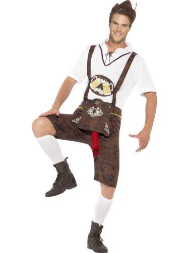 Homme brad saucisse oktoberfest bière homme allemand lederhosen costume robe fantaisie