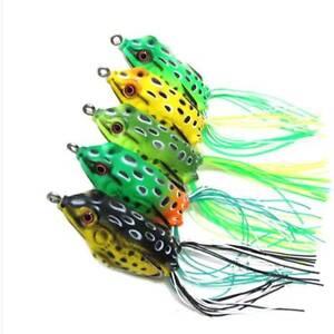 8pk 6cm Topwater Soft Swimbait Fishing Lures Crankbait Tackle Frog Bait