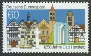 Germany-1986-MNH-Mi-1271-Sc-1454-Bad-Hersfeld-city