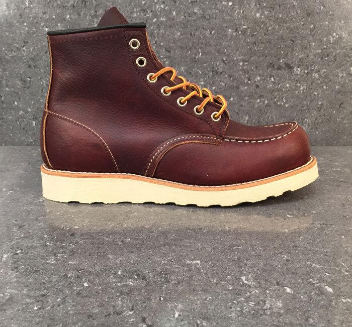 Red Wing Botas Clásico Moc 8138 Premium Briar marea negra los zapatos de cuero marrón de trabajo