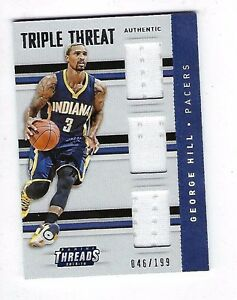 9472b44c4407 2015-16 PANINI THREADS BASKETBALL  27 GEORGE HILL TRIPLE THREAT ...