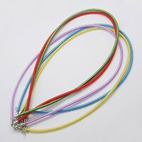 Silk Necklace Cord Necklace Chains 17-18 Adjustable Assorted Colors 10 Pieces