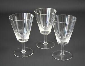 Alte-Rosenthal-Glaser-3-Sektglaser-H-12-5cm-Bleikristall-RAR-I