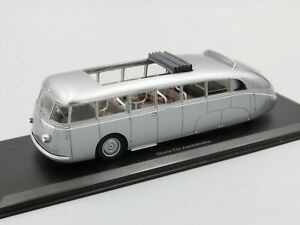 Autocult-1-43-Skoda-532-Autobahnbus-silver-metallic-Czech-Republic-1938