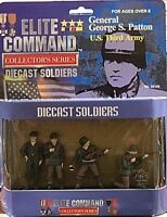 Bbi 1/32 Wwii Diecast Metal Soldiers 4 Pc Figures Set With General Patton