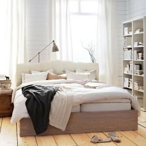 Image Is Loading Queen Full Upholstered Headboard Bed Frame Button Bedroom