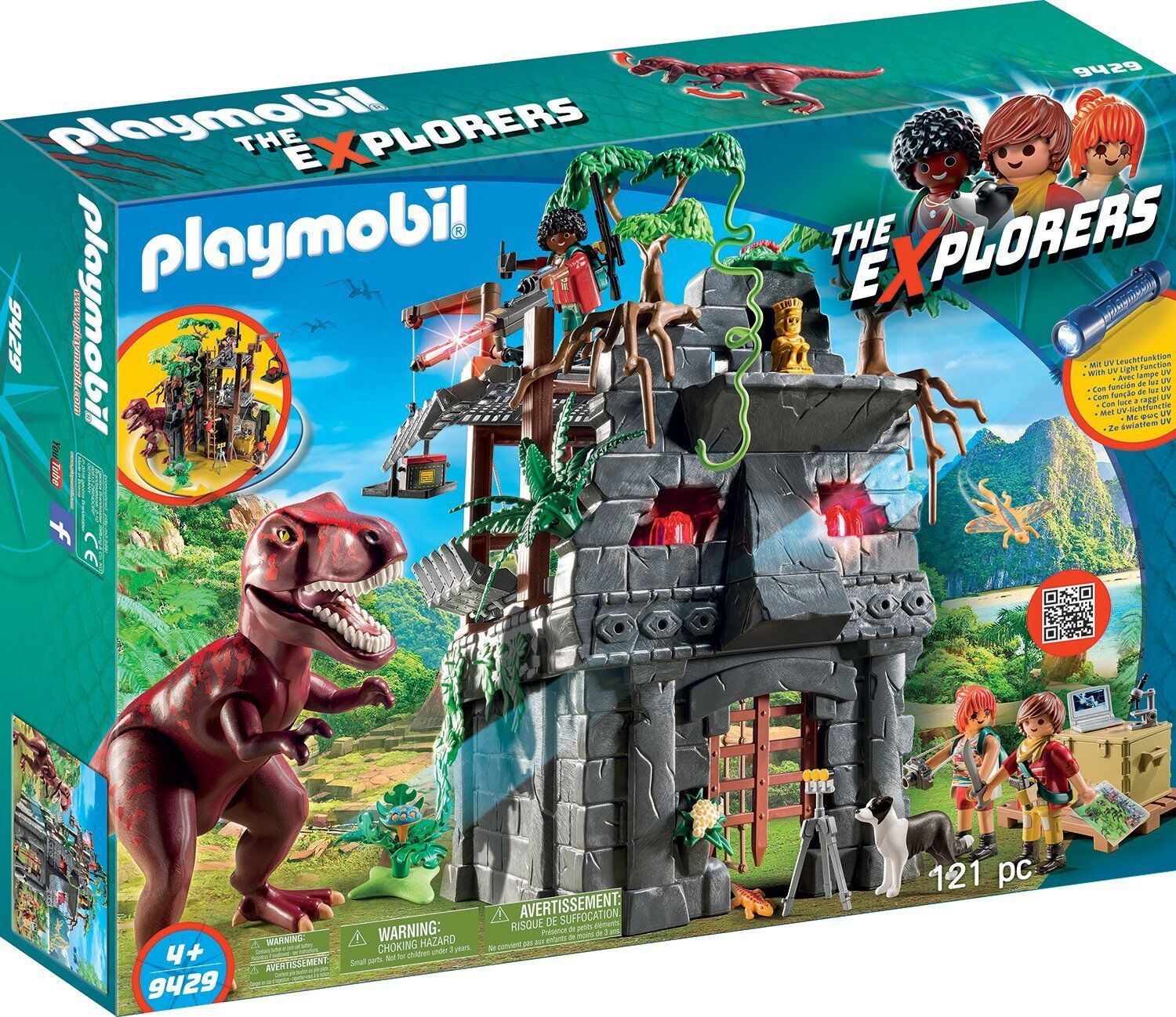 Playmobil - The Explorers - 9429 - Basecamp mit T-Rex - NEU OVP