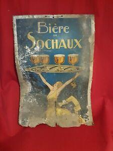 Biere-Sochaux-ancien-carton-publicitaire-epoque-ART-DECO
