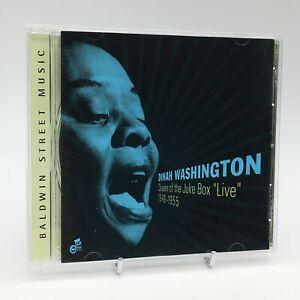 DINAH-WASHINGTON-QUEEN-OF-THE-JUKE-BOX-LIVE-1948-1955-Rare-Jazz-CD-Album-VGC