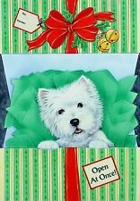 """Westie Christmas Cards """"The Gift"""" by Borgo"""
