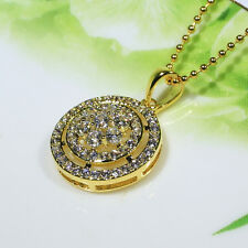 18K Yellow Gold Filled CZ Women Fashion Jewelry Lady Gift Necklace Pendant P3074
