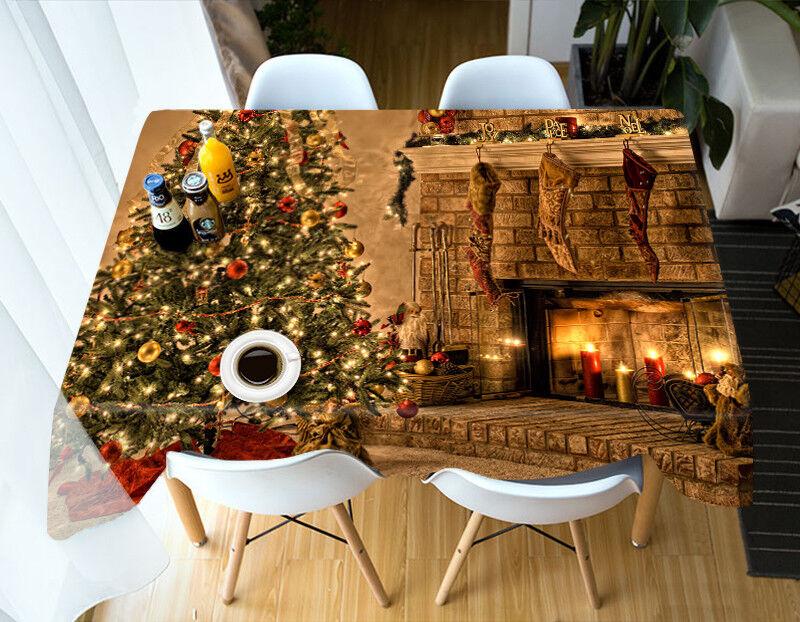 3d navidad Xmas 1 mantel pañuelo fiesta de cumpleaños event AJ wallpaper de