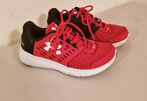 e0b65cec5527a Details about UNDER ARMOUR Micro G Motion 1301868-600, Red/Black, US Youth  Size 2 2Y -PreOwned