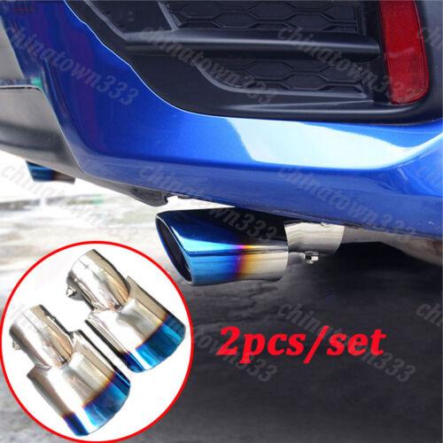 2 Blue Rear Exhaust Muffler End Pipe Fit for Honda Civic 10th Gen 4dr Sedan 2016
