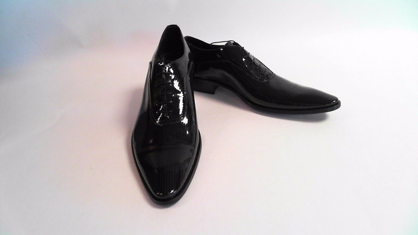 Bespoke HQ Dotted Vero Cuoio Vernice Nero PU Men's Shoes Dotted HQ Italian Patent Leather ed561f