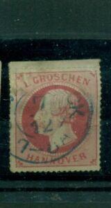 Hannover, Re Giorgio V. N. 23 x timbrato bordo superiore