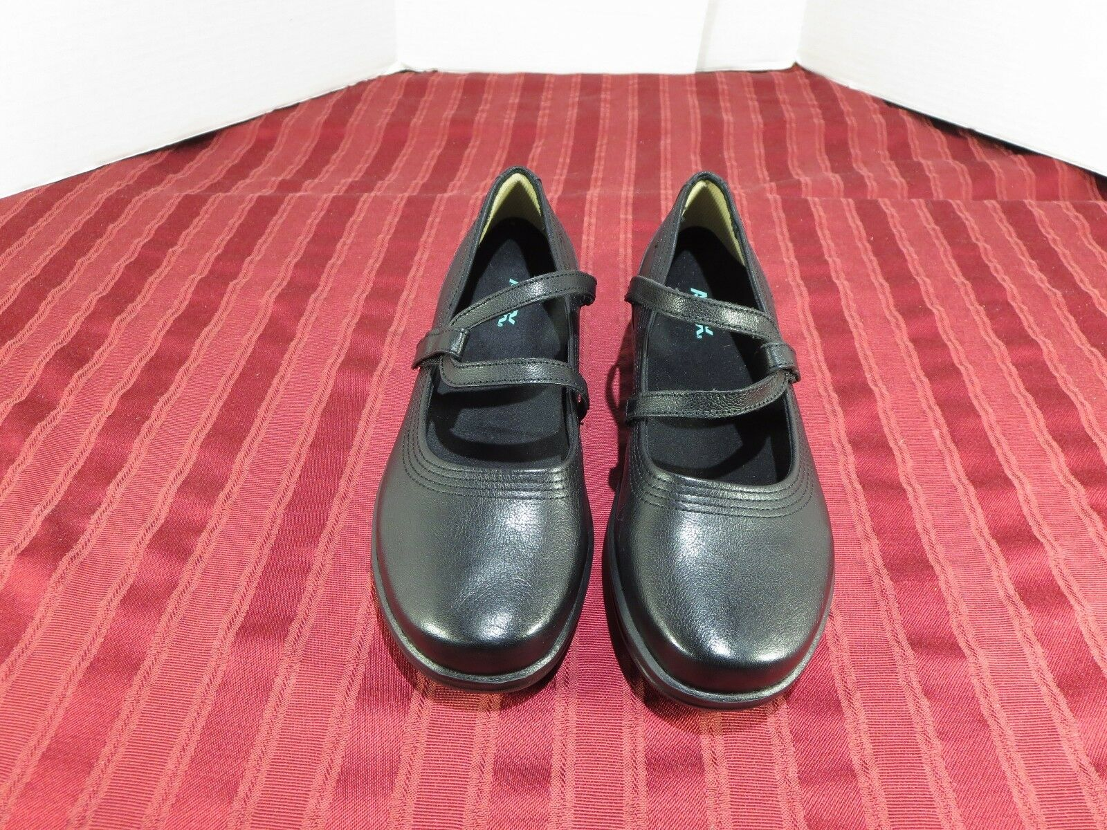 Apex Janice A300W  Mary Jane Flat Comfort Casual Black Leather Women Size 9