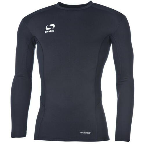 BOYS JUNIORS NAVY SONDICO LONG SLEEVE CORE COMPRESSION WINTER BASE LAYERS