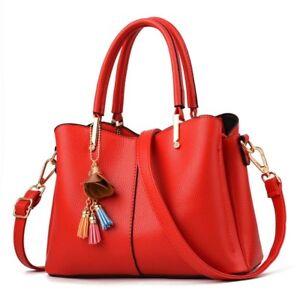 11b38e3f7b61 Image is loading Women-Luxury-Handbag-Ladies-Crossbody-Red-Designer-Italian-