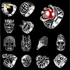Moda Da uomo Gioielli Teschio Animale Gemma Anello 316L Acciaio Inox anello US