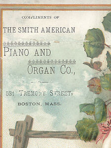BOSTON-TRADE-CARD-SMITH-AMERICAN-PIANO-amp-ORGAN-531-TREMONT-ST-FREE-SHIP-TC3008