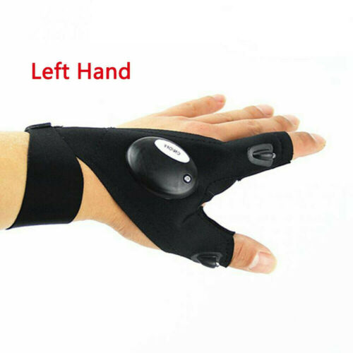 Finger Glove with LED Light Flashlight Gloves Outdoor Gear Rescue Night Fishing/'