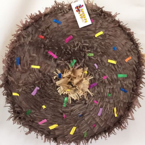 APINATA4U Brown Doughnut Pinata Chocolate Flavor Inspired