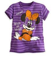 Disney Store Minnie Mouse Halloween Cat Girls T Shirt sz 2/3 4 5/6 7/8 10/12 NWT