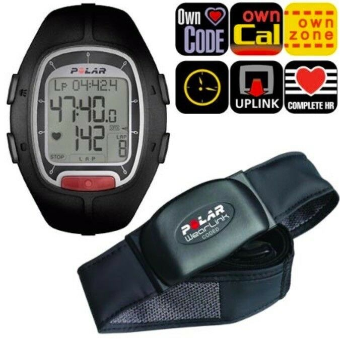 POLAR RS100 Running HEART RATE MONITOR WATCH +WearLink STRAP Mens Ladies NEW
