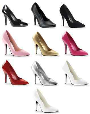 Womens Shoes Size 4 Pink Pointy Toe Court Stiletto High Heels Pleaser Seduce-420