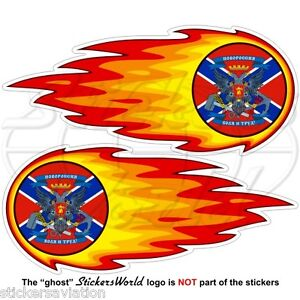 Decals x2 NOVOROSSIYA Confederation Flying Flag New Russia 120mm Vinyl Stickers
