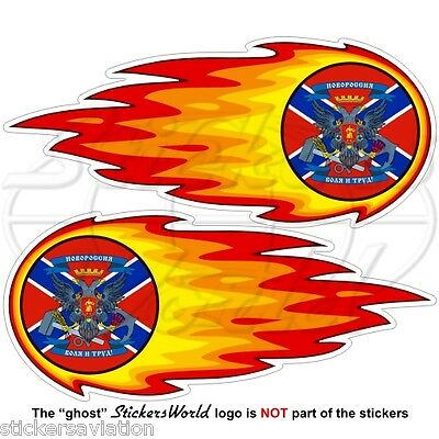 NOVOROSSIYA Confederation Fireball-Fire-Flaming New Russia Stickers-Decals x2