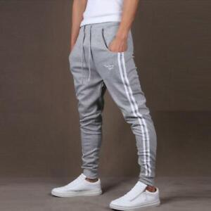 Nueva Moda Pantalones De Chandal Para Hombre Pantalones Conversation De Algodon Pantalon Ebay