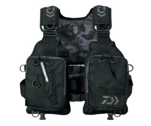 Daiwa Light Float Game Vest DF-6406 Free Size Black Color Send by DHL 1 Week !