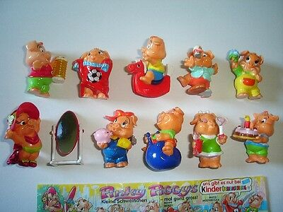 KINDER SURPRISE SET - PINKY PIGGIES LITTLE PIGS PARTY 2000 FIGURES COLLECTIBLES
