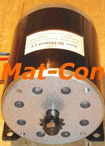 E-Motor Motore Elettrico anche generatore unite my1020gd DC 500w 24v/36v, CON PIGNONE  </span>