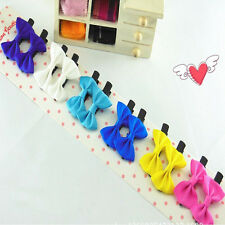 10Pcs Toddler cute Girl Hair Clip Ribbon Bow Baby Kids Satin Bowknot Headband ed