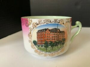 Antique Bethany College Lindsborg Kansas Souvenir Cup Wheelock Austria